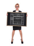 Blackboard with website Stock Photos