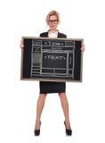 Blackboard with website Stock Photos