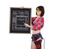 Blackboard with website Royalty Free Stock Photography
