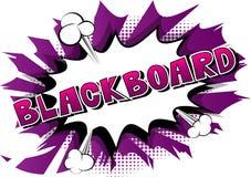 Blackboard - Wektorowy obrazkowy komiksu stylu zwrot ilustracji