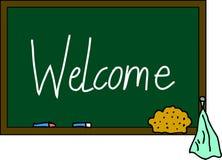 Blackboard Welcome Royalty Free Stock Image