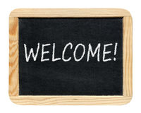 Blackboard with Welcome! phrase Stock Image