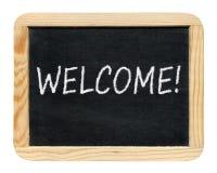 Blackboard with Welcome! phrase Stock Image