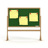 Blackboard on a white background. Stock Photo
