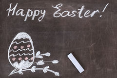Blackboard With Easter Drawing Royalty Free Stock Image