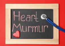 Free Blackboard With Text HEART MURMUR And Stethoscope Stock Photo - 137523660