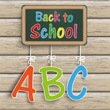 Blackboard Wood ABC Back to Shool. Blackboard with text Back to School Royalty Free Illustration