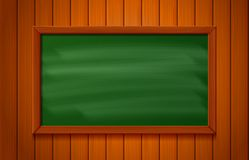 blackboard on wood background vector illustration