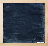 Blackboard in wooden frame Stock Photography