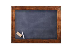 Blackboard in wooden frame. Royalty Free Stock Photography