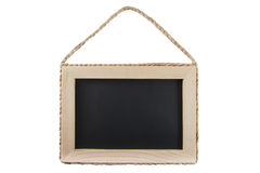 Blackboard with wooden frame isolated on white bac Royalty Free Stock Photos