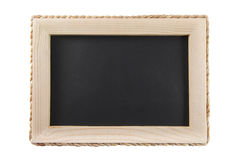 Blackboard with wooden frame isolated on white background Stock Photography