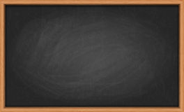 Blackboard in wooden frame Royalty Free Stock Photos