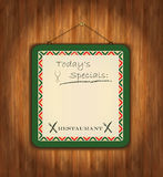 Blackboard wooden paper green Royalty Free Stock Photo