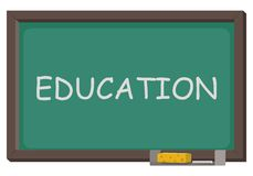 Blackboard with word education stock illustration