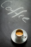 Blackboard with the words coffee and espresso Stock Photo