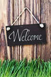 Blackboard with the words welcome Royalty Free Stock Photo