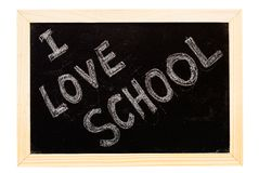 Blackboard written Royalty Free Stock Photo