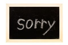 Blackboard written Stock Images