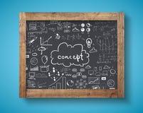 Blackboard z biznesowym pojęciem obrazy royalty free