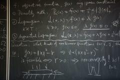 Blackboard z matematyki lekcją Zdjęcie Royalty Free