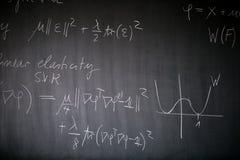 Blackboard z matematyki lekcją Obrazy Stock
