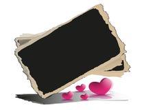 Blackboard z sercami. Obraz Stock