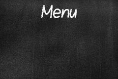 Blackboard z teksta ` menu ` obraz royalty free