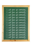 Blackboard z Wiadomościami Zdjęcie Stock