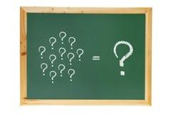 Blackboard z Znak Zapytania Fotografia Stock