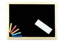 blackboardblankocheckillustrationer mer min var god portföljbrevpapper Royaltyfri Fotografi