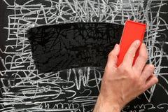 blackboardcleaning Arkivfoton