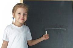 blackboardflicka little arkivbilder