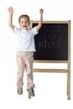 blackboardflicka little royaltyfri fotografi