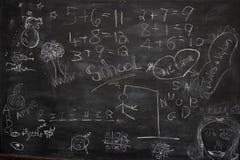 blackboardgrafitti royaltyfri bild