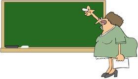 blackboardlärare Arkivbild