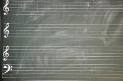 blackboardnotsystem Royaltyfri Foto