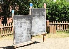 Blackboards. For chalk on kids´ playground royalty free stock photo