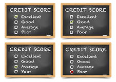 Blackboards Credit Score Stock Photos