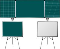 Blackboards and easels Royalty Free Stock Photos