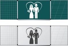 blackboards två Arkivbilder
