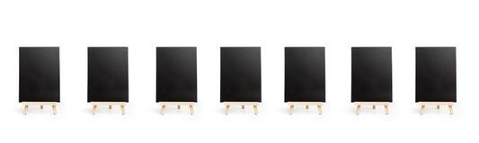 Blackboards w cięciu za widoku fotografia royalty free