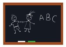 blackboardskola Arkivfoton