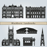 Blackburn landmarks and monuments Royalty Free Stock Photos