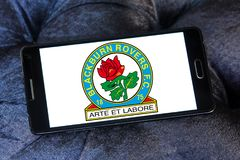 Blackburn Rovers f C Логотип клуба футбола Стоковая Фотография RF
