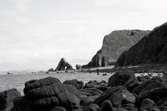 Blackchurch Rock, North Devon stock image