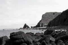 Blackchurch vaggar, norr Devon fotografering för bildbyråer