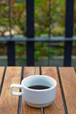 Blackcoffee in garden Stock Photo