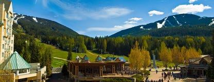 吹口哨和Blackcomb滑雪胜地 库存照片