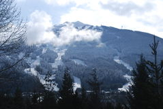 Blackcomb Berg stockbilder